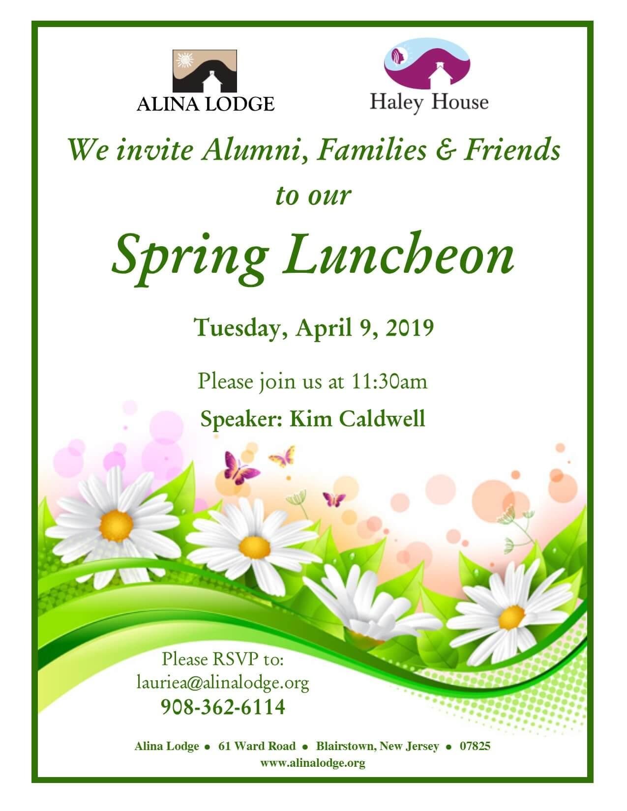 Spring Luncheon at Alina Lodge